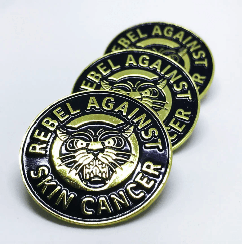 Rebel against skin cancer Pin 1