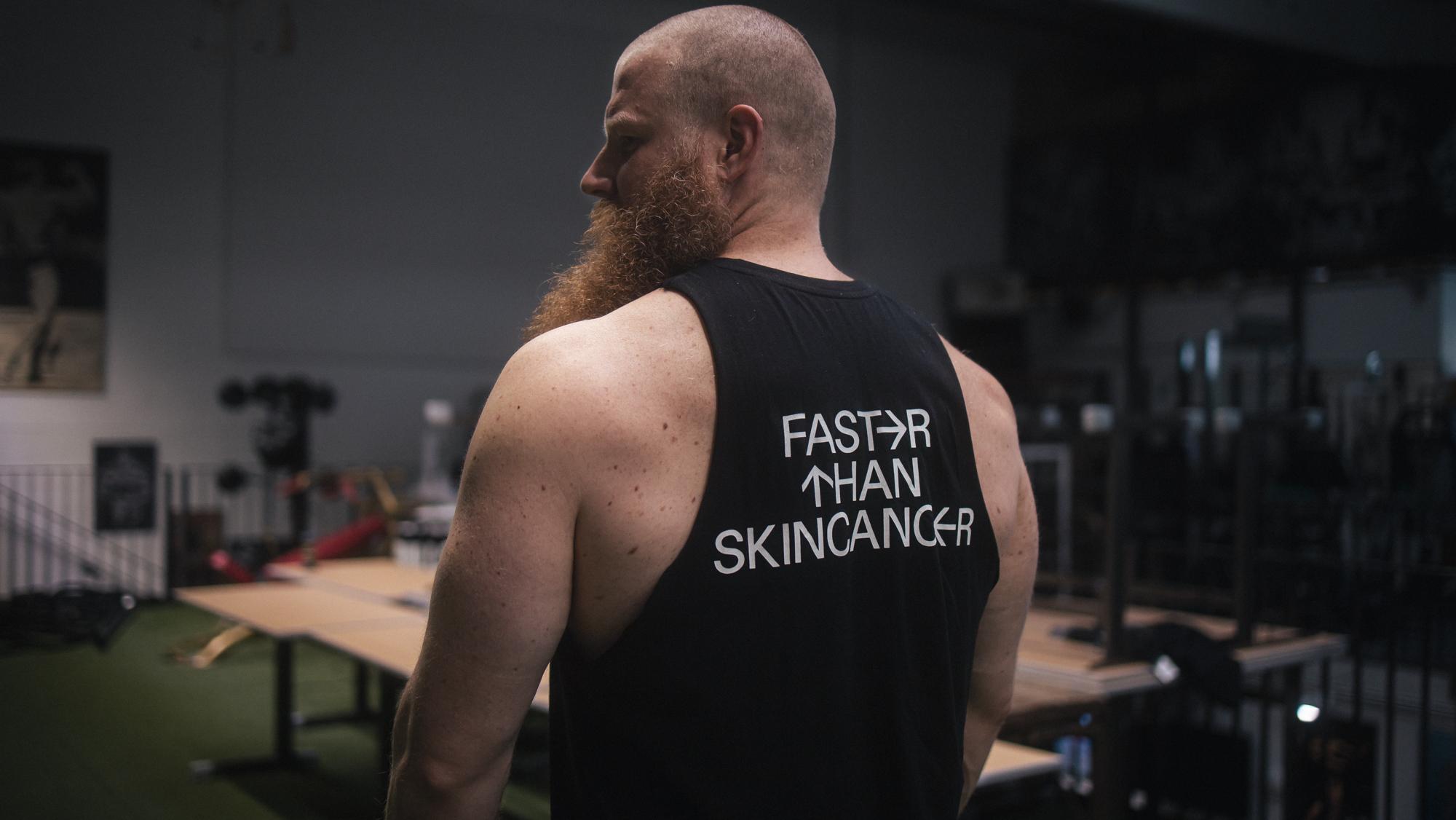 Faster Than Skincancer met gewichtheffer Alexander Pürzel 9